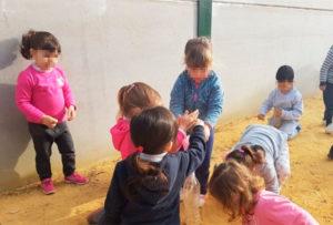 Alumnado infantil - Pisando el suelo